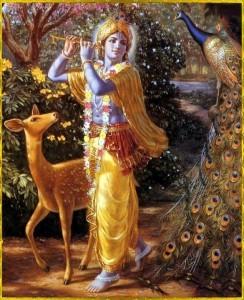 Raffigurazione simbolica delle qualità spirituali di Krishna