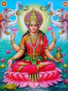 Lakshmi, dea della prosperità e dell'abbondanz