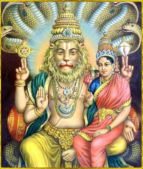 Krashaum e Shrim: Bijia Mantra di Narasimha e Lakshmi