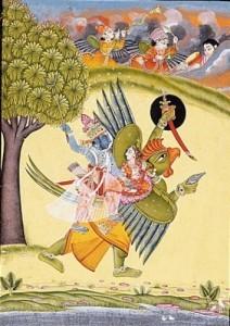 Dipinto raffigurante Kama, dio guerriero dell'amore e dell'eros