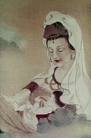 Guanyin con bambino