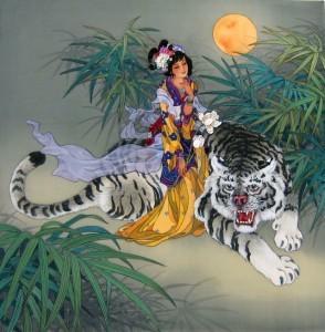 Guanyin nella forma della principessa Miaoshan - opera di Caroline N. Young