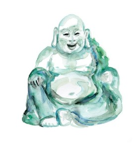 jataka Storia degli otto rumori - buddha che ride