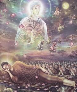 Buddha Sakyamuni lascia il suo corpo mortale