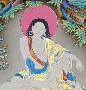 Raffigurazione di Milarepa, mistico Tibetano vissuto a cavallo tra l' XI e il XII secolo