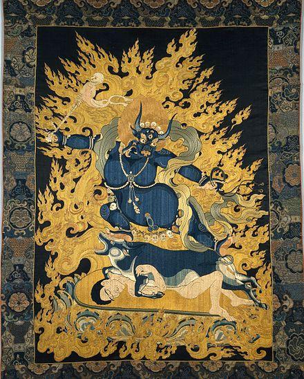 Yama, XVIII secolo, Tibet-Cina, arazzo di seta, h. 66 cm, Londra, British Museum