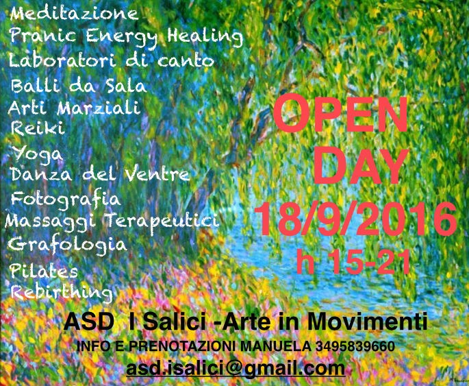 Open Day presso ASD I Salici-Arte in Movimento