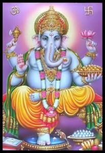 Raffigurazione simbolica di Ganesh