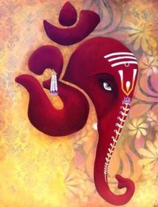 Il mantra Om, in sanscrito, ricorda la forma della testa di un elefante