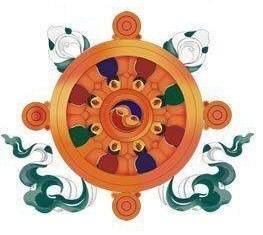 Gli otto Simboli di Buon Auspicio - ruota del dharma